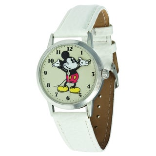 Disney Ingersoll Women's White Stainless-Steel Mickey Mouse Watch