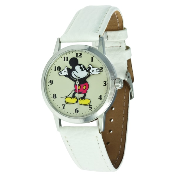 Disney Ingersoll White Stainless-Steel Mickey Mouse Watch