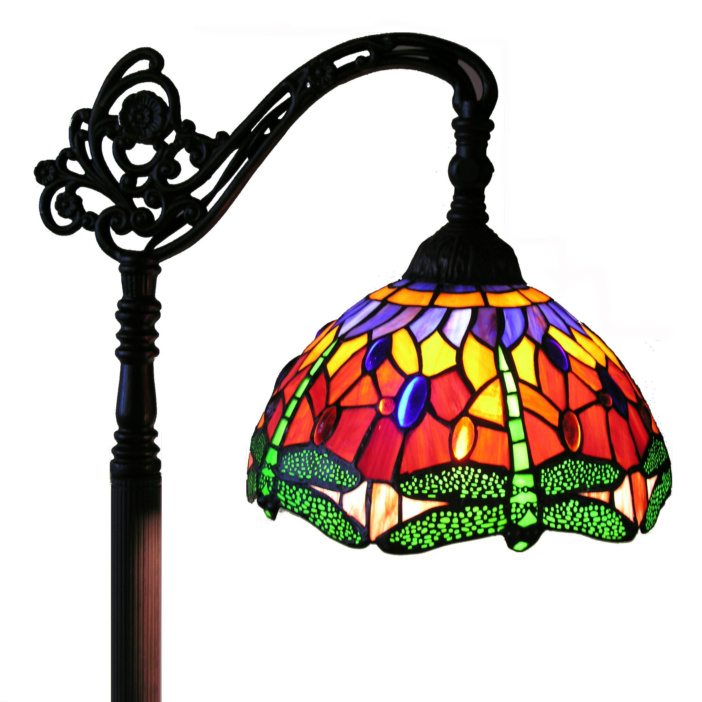 Warehouse of Tiffany Red Dragonfly Reading Lamp