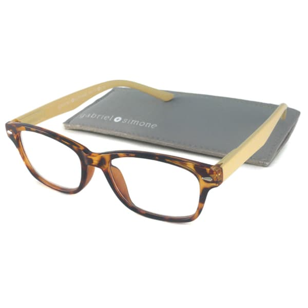 388cdc5f140 Gabriel+Simone Readers Women s Jardin Tortoise Rectangular Reading Glasses  Gabriel+Simone Readers Reading Glasses