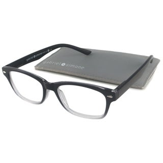 Gabriel+Simone Readers Unisex Metro Black Rectangular Reading Glasses