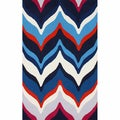 nuLOOM Handmade Chevron Waves Multi Rug