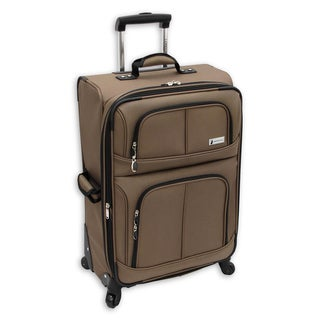 London Fog Nottingham 360 Mocha 25-inch Expandable Spinner Upright Suitcase