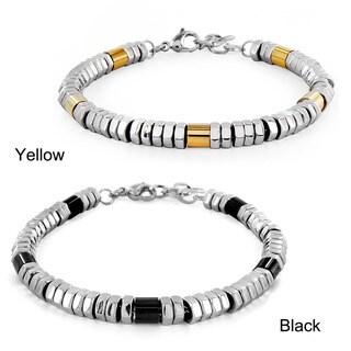 West Coast Jewelry Stainless Steel Hexagonal Beads Bracelet