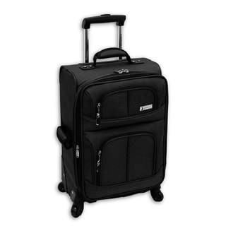 London Fog Nottingham 360 Black 21-inch Expandable Carry On Spinner Upright