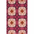 nuLOOM Handmade Marrakesh Fuschia Wool Rug