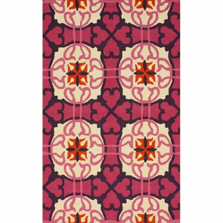 nuLOOM Handmade Marrakesh Fuschia Wool Rug