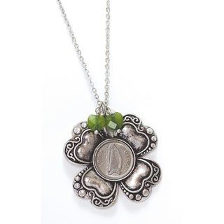 American Coin Treasures Irish Threepence Four Leaf Clover Pendant