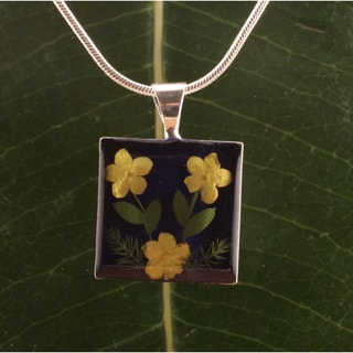 Elder Flowers Square Pendant (Mexico)