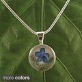 Forgetmenot Bouquet Round Necklace (Mexico)