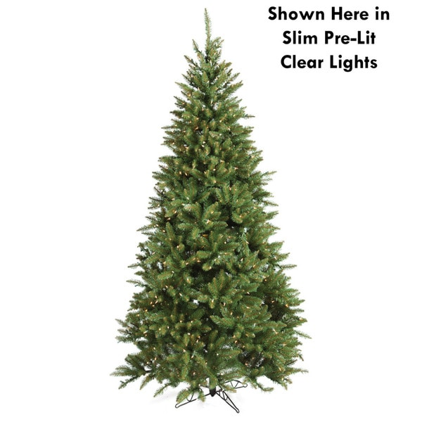 Good Tidings Allegheny Fir Slim 7.5-foot Pre-lit Seasonal Tree