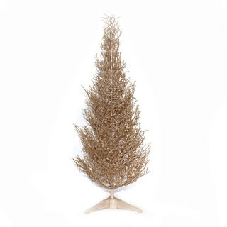 Good Tidings Champagne 36-inch Mini Tabletop Seasonal Tree