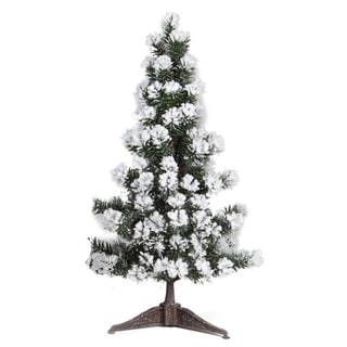 Good Tidings Snow Angel Pine 23-inch Tabletop Seasonal Tree