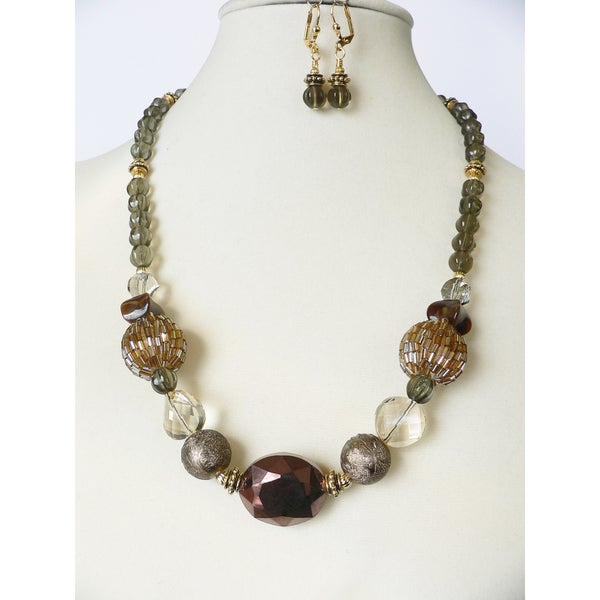 'Shadows and Fog' Necklace and Earring Set