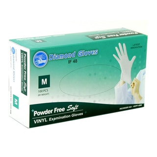 Diamond Clear Vinyl Powder-free Examination Gloves (Case of 1000)