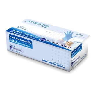 Diamond Gloves Blue Powder-free Nitrile Examination Gloves (Case of 1,000)