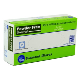 Advance Gloves Powder-Free White Nitrile Examination Gloves (Case of 1,000)
