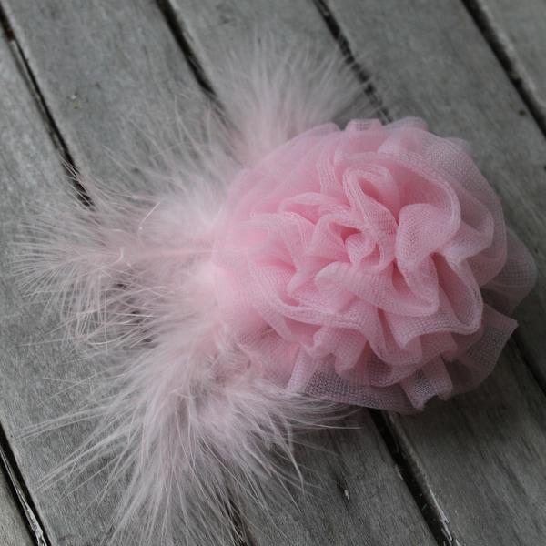CarolineAlexander Girls Pink Chiffon Flower Clip