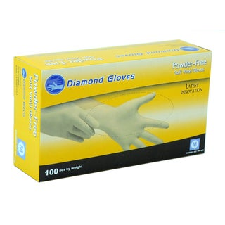 Diamond Clear Vinyl Powder-free Stretch Gloves (Case of 1,000)