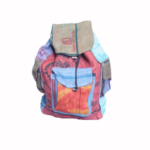 Multicolored Jute Backpack (Nepal)