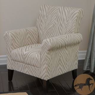 Christopher Knight Home Bigalow Beige Zebra Fabric Club Chair