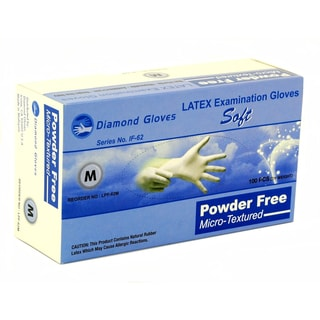 Diamond Medical-grade Latex Examination Gloves (Case of 1,000)