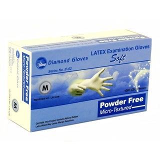 Advance Medical-Grade Latex Examination Powder Free Gloves (Case of 1,000)
