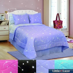 "Veratex ""Glow in the Dark"" Stellar 4-piece Comforter Set"