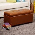 Warehouse of Tiffany Faux Leather Button Storage Bench