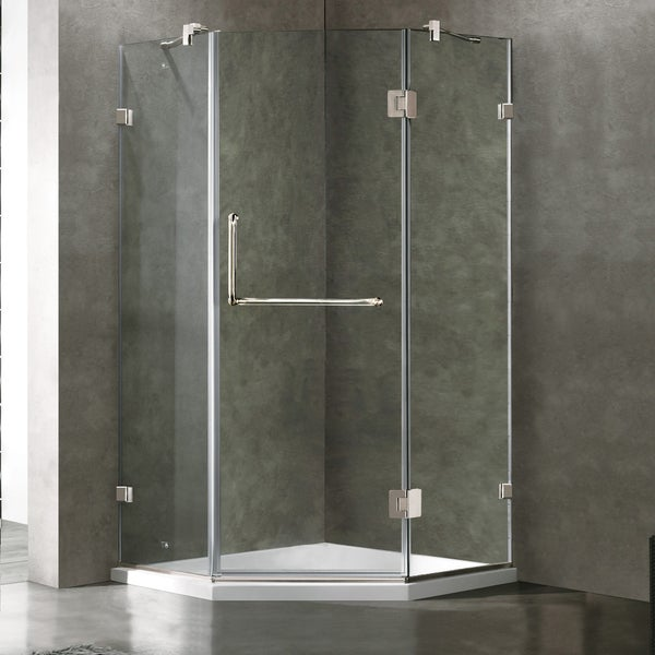 Vigo Frameless Neo Angle Clear Glass Shower Enclosure With