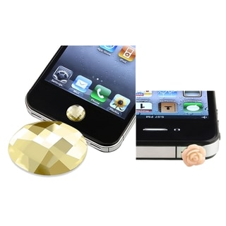 BasAcc Amber Home Button Sticker/ Dust Cap for Apple iPhone 5/ 4/ 4S