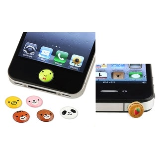 BasAcc Animal HOME Button Sticker/ Dust Cap for Apple iPhone 4/ 4S/ 5