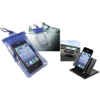 BasAcc Blue Waterproof Bag/Car Phone Holder Apple iPhone 4S/ 5 with Lanyard