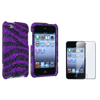 BasAcc Zebra Bling Case/ Protector for Apple iPod touch 4th Generation