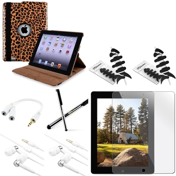 BasAcc BasAcc Case/ Headset/ Protector/ Splitter for Apple iPad Generation 2/ 3/ 4