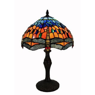 Tiffany Style Tangy Dragonfly Table Lamp