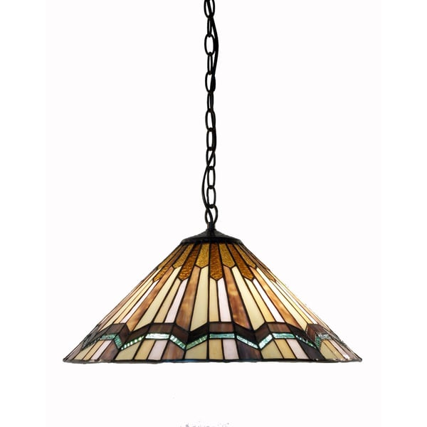 ada 1 light jewel tiffany style 12 inch hanging lamp. Black Bedroom Furniture Sets. Home Design Ideas