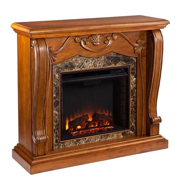Sandro Walnut Electric Fireplace