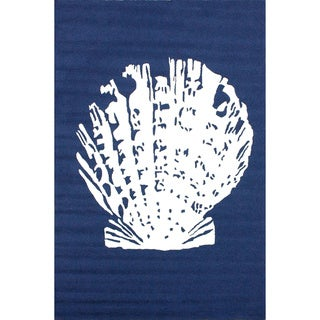 nuLOOM Handmade Indoor/ Outdoor Seashell Blue Rug