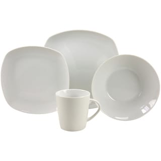 French Home 16-piece Quadro Decor Fine Porcelain Dinner Ware Set
