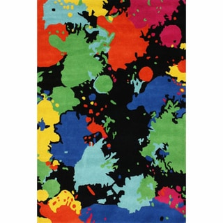 nuLOOM Handmade Kid's Splatter Abstract Multi Wool Rug