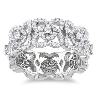 Miadora 14k White Gold 1ct TDW Diamond Ring (G-H, SI1-SI2)