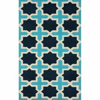 nuLOOM Handmade Marrakesh Trellis Turquoise Wool