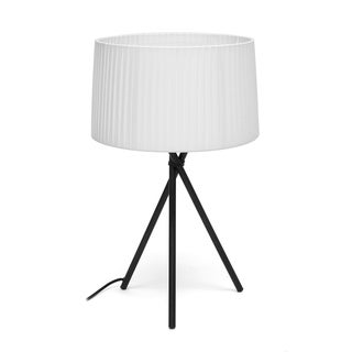 Throop White Modern Tripod Table Lamp