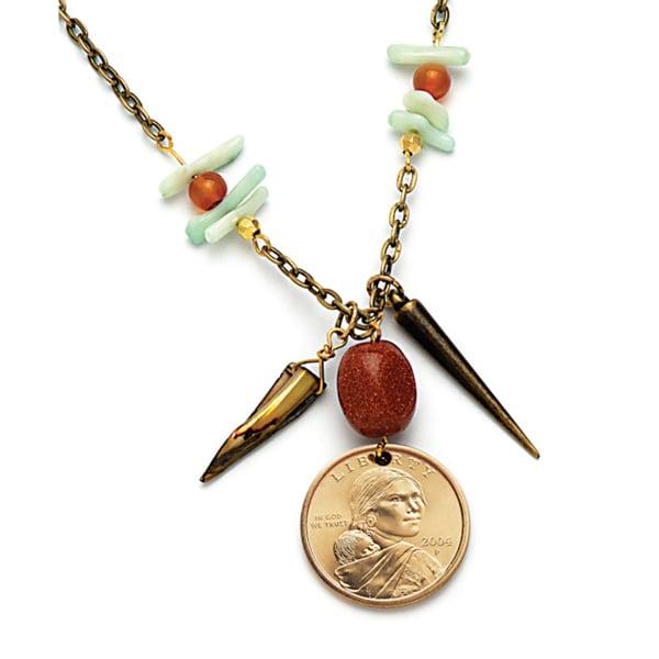 American Coin Treasures Dome Sacagawea Golden Dollar Coin Pendant