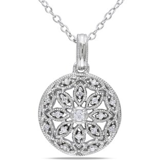 M by Miadora Sterling Silver 1/10ct TDW Diamond Necklace (H-I, I2-I3)