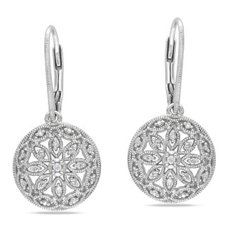 Miadora Sterling Silver 1/10ct TDW Diamond Earrings (G-H, I1-I2)