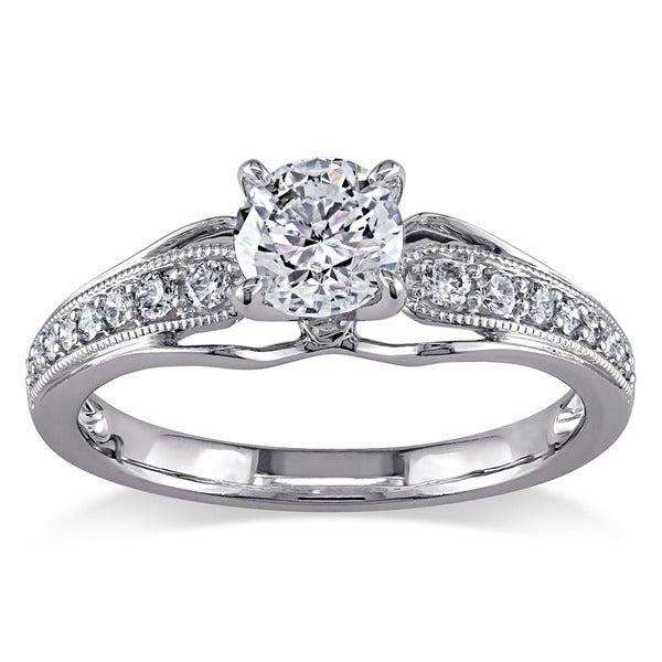 Miadora 14k White Gold 7/8ct TDW Diamond Ring (G-H, I1-I2)