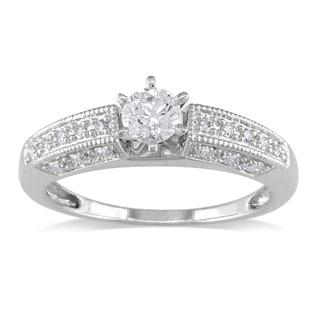 Miadora Signature Collection 14k White Gold 5/8ct TDW Diamond Engagement Ring (G-H, I1-I2)