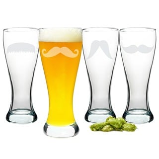Gentlemen's Mustache Glassware Collection (Set of 4)